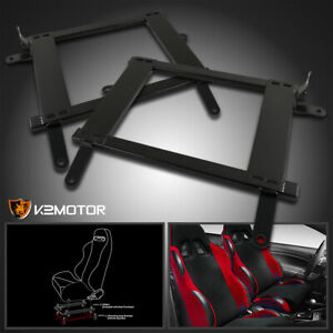 For 2002 2006 Lancer Evo 7 8 Ct9a Racing Seat Steel Mounting Brackets Rail Track