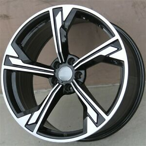 Set 4 19 19x8 5 5x112 Wheels Tires Pkg Vw Cc Passat Gti Jetta Golf Mk 4 Eos