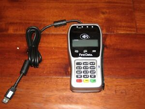 First Data Fd 35 Pin Pad Point Of Sale Pos Credit Card Terminal Reader Mint