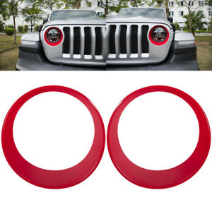Front Headlight Turn Light Bezels Cover Accessories Trim For Jeep Wrangler Jl b