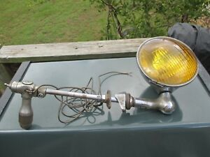 Appleton Lorraine Yellow Lens 1920 s Brass Spotlight Nice Complete Street Rod