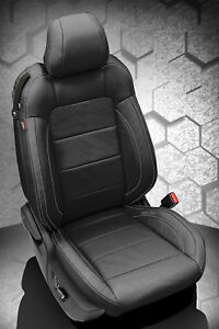 2015 2019 Ford Mustang Gt V6 Convertible Alea Black Leather Seat Covers Kit