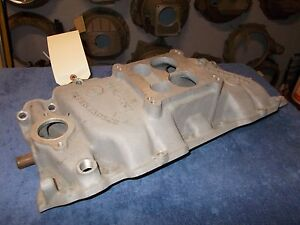 Offy Offenhauser B b Chevy Dual Port Manifold Spread Bore Low End Torque Truck