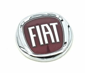 Genuine New Fiat Bonnet Red Badge Hood Front Emblem Qubo 2007 2015 Van Multjet