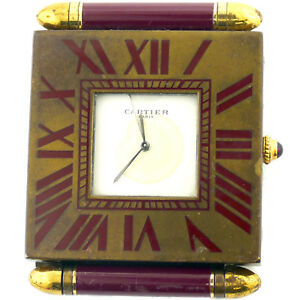 Cartier Quartz Vintage Desk Clock As Is For Parts Repairs
