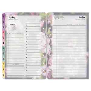 Franklincovey Blooms Dated Daily Planner Refill January december 4 3 4 X 6