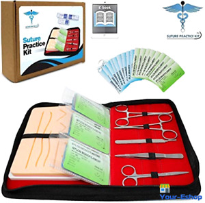 Practice Suture Kit W Wounds 27 Piece For Medical Students Veterinary Suturing
