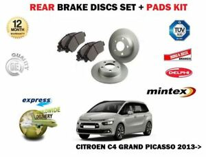 For Citroen C4 Grand Picasso Mpv 2013 new Rear Brake Discs Set Disc Pads Kit