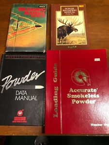Hogdon Speer Accurate And Nosler Pistol And Rifle Ammunition Reloading Manuals