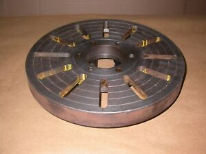 16 Diameter Lathe Face Plate 1 3 4 Thick W D1 6 Mount And 7 8 Diameter Pins