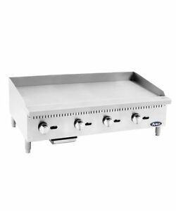 New 48 Flat Top Griddle Manual Control Commercial Restaurant Plancha Duty Gas