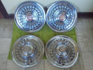 58 59 Cadillac Hub Caps 15 Set Of 4 Wheel Covers 1958 1959 Hubcaps