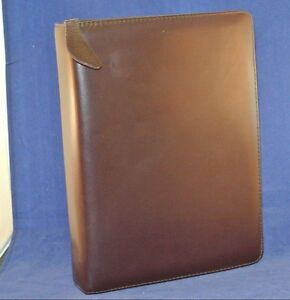 1 5 Rings Classic Leather Franklin Quest covey Binder Burgundy