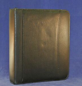 1 25 Rings Black Classic Franklin Covey Genuine Leather Planner Binder