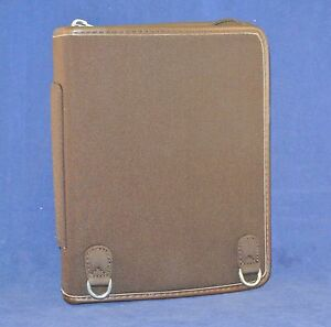 1 25 Rings Compact Brow Microfiber leather Trim Franklin Covey Planner binder