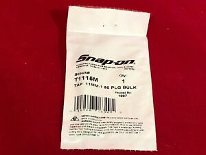Snap On New T1115m M11 X 1 50 Double Hex Tap 11 80 List Price