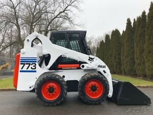 2001 Bobcat 773 Rubber Tire Skid Steer Loader Cab Turbo Diesel Wheel Skidsteer