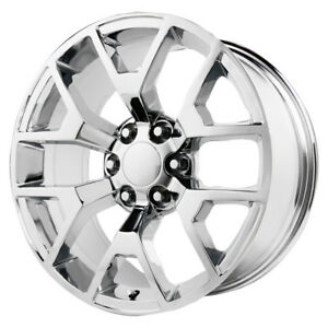20 Inch Replica V1176 2014 Gmc Sierra 20x9 6x139 7 31mm Chrome Wheel Rim