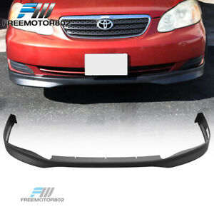 Fits 03 04 Toyota Corolla Tr Style Front Bumper Lip Chin Spoiler Unpainted Pp