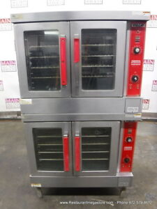 Vulcan Vc4gd 12 Gas Double Deck Full Size Convection Oven On Casters