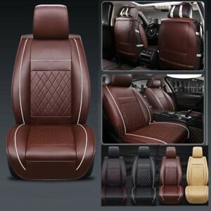 Universal Full Car Seat Covers Mat Seat Pu Leather Breathable Cushion Pad Set