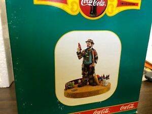 Emmett  KELLY Circus Clown  COCA COLA, limited edition new, 1993  #  0906