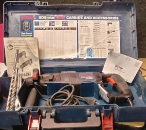 Bosch 11255vsr Sds plus Bulldog Xtreme Rotary Hammer Drill W Case Bits Manuals