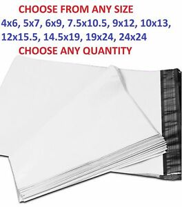 Poly Mailers Plastic Envelopes Shipping Bag 2 35 Mil White Premium Free Shipping