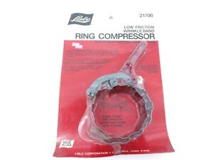 Lisle Low Friction Wrinkle Band Ring Compressor For 3 To 5 Pistons 21700