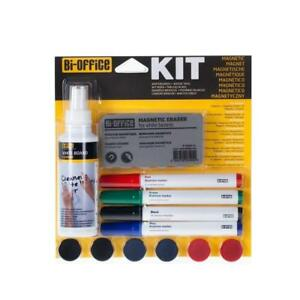 Magnetic Whiteboard Accessory Kit 4 X Markers 6 X Magnets 1 X Eraser 1 X Cleaner