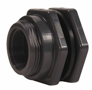 Hayward Pvc Bulkhead Tank Fitting 3 Pipe Size Fnpt X Fnpt Connection Type