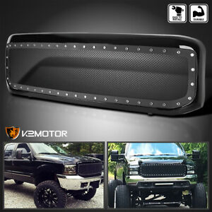 1999 2004 Ford F250 F350 Super Duty Mesh Rivet Style Bumper Hood Grille W shell