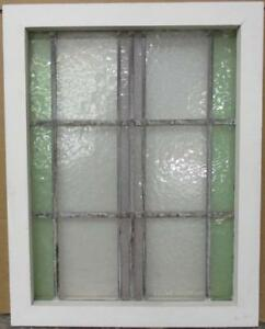 Mid Sized Old English Leaded Stained Glass Window Simple Stripes 17 75 X 22 75