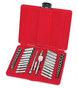 New Snap On 44 Piece 1 4 Drive 6 Point Sae Metric General Service Set 144tmpb