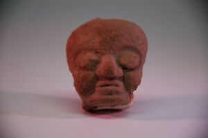 Authentic Clay Pre Columbian Toltec Head Aztec Mayan Olmec Mexican Xipe Totec
