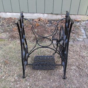 Antique New Home Treadle Sewing Machine Cast Iron Base Pickup Only