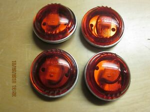 Vintage Clearance Marker Lights Trucks Trailers Circa 50 s 70 s Red