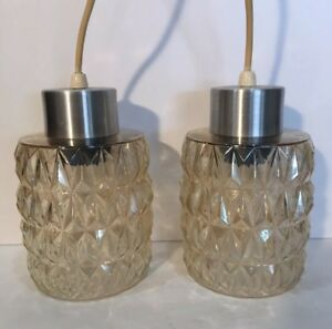 Fabulous Pair Of Vintage Danish Modern Pendant Lights Mid Century