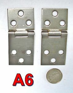 Pair Antique Treadle Sewing Machine Parts Hinges Singer New Home White A6
