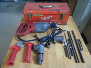 Milwaukee Heavy Duty Right Angle Drill With Electricians Kit And More