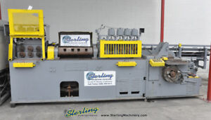250 635 Used Lewis Wire Straightening And Cut Off Machine With Barfeed 10