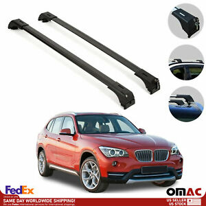 Roof Rack Cross Bars Luggage Carrier Black For Bmw X1 E84 2013 2015