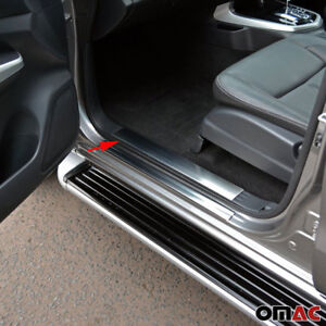 Chrome Inner Door Sill Scuff Plate 4 Pcs For Nissan Frontier Crew Cab 2005