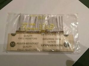 50 Pcs Allen Bradley Fixed Resistors 1000 Ohms 1 4 Watt Rcro7g102js New Sealed