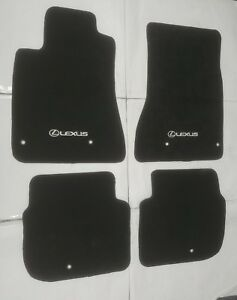Fit 1998 2005 Lexus Gs300 Gs400 Gs430 Black Floor Mats Carpet W emblem