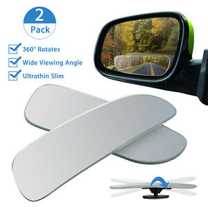 Universal 2pcs Auto Car 360 Wide Angle Convex Rear Side View Blind Spot Mirror