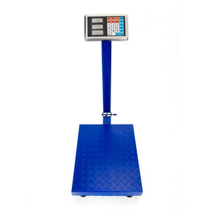 300kg 661lb Weight Lcd Digital Personal Floor Postal Platform Scale Blue Us Plug