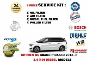 For Citroen C4 Grand Picasso 1 6 Hdi 2013 Oil Air Fuel Pollen 4 Filter Kit