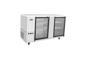 New Stainless 69 2 Glass Door Back Bar Beer Cooler Free Shipping