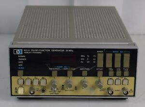 Hewlett Packard 8111a Pulse function Generator 20mhz Power Tested Free Shipping